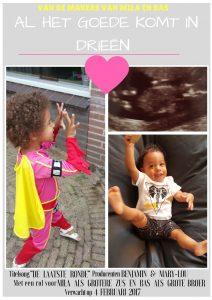 filmposter zwangerschapsaankondiging