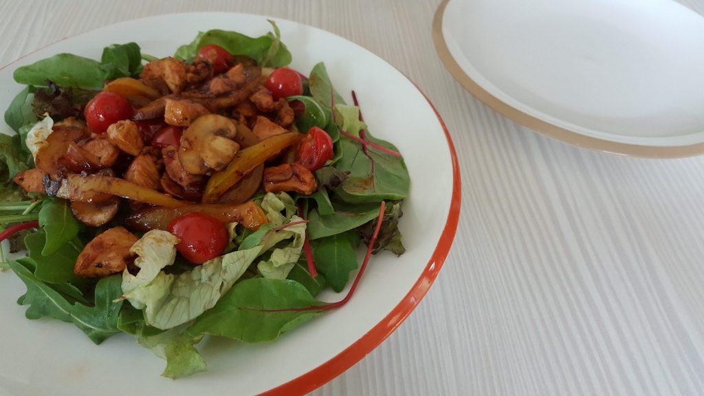 Salade pittige kip 5 Weight Watchers punten