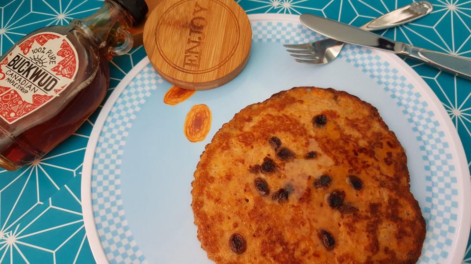 pompoenpannenkoeken met ahornsiroop maplesyrup